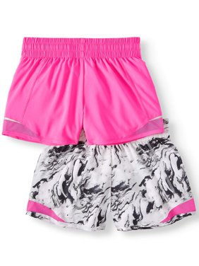 Active Running Shorts, 2-Pack (Little Girls & Big Girls)