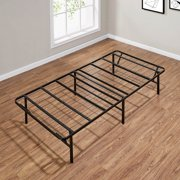 "Mainstays 14"" High Profile Foldable Steel Bed Frame, Powder-coated Steel, Twin"