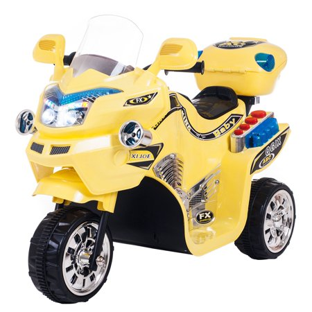 Ride on Toy, 3 Wheel Motorcycle for Kids, Battery Powered Ride On Toy by Lil' Rider - Ride on Toys for Boys and Girls, 2 - 5 Year Old - Yellow FX](Best Toys For 3 Year Olds)