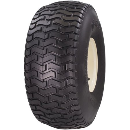 12 Turf Tread Tire - Greenball Soft Turf 15X6.00-6 4 PR Turf Tread Tubeless Lawn and Garden Tire (Tire Only)