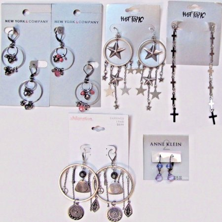 6 Wholesale Lot $70 Retail Fashion Jewelry Earrings Costume - Costume Wedding Jewelry
