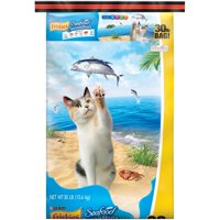 Friskies Seafood Sensations Dry Cat Food, 30 lb
