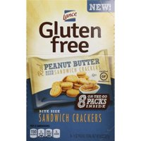 (2 Pack) Lance Gluten Free Sandwich Crackers, Peanut Butter, 1 oz, 8 Count Box