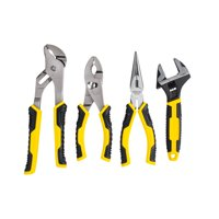 STANLEY 84-558 4-Piece Plier and Adjustable Wrench Set
