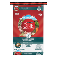 Purina ONE Natural Large Breed Dry Puppy Food; SmartBlend Large Breed Puppy Formula - 16.5 lb. Bag