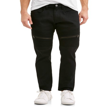 Men's Big Slab 5 Pocket Solid Pant Slim Fit with Moto (Velvet 5 Pocket Pants)