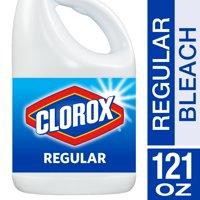 (2 Pack) Clorox Regular Liquid Bleach, 121 oz Bottle