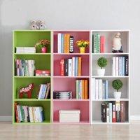 Yosoo 3/4 Shelf Bookcase Storage Furniture Bookshelf Bedroom Wood