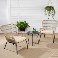 Mainstays Adina Bay Chat Patio Furniture Set, Fieldstone, 3-Piece