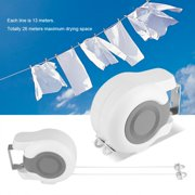 Clothes Line,Zerone 13m Wall-Mounted Retractable Double Clothes Drying Line Indoor Outdoor Washing Landry Tool