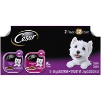 CESAR Wet Dog Food Classic Loaf in Sauce Filet Mignon & Porterhouse Steak Flavors Variety Pack, (12) 3.5 oz. Trays