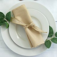 """Efavormart Pack of 5 Premium 20"""" x 20"""" Washable Polyester Napkins Great for Wedding Party Restaurant Dinner Parties"""