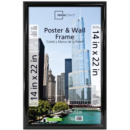 Mainstays 14x22 Trendsetter Poster And Picture Frame Black