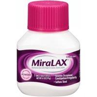 MiraLAX Polyethylene Glycol 3350 Powder Laxative, 4.1 Oz, 7 Dose