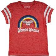 0a83ec63 Wonder Woman Rainbow Logo Burnout T-Shirt (Little Girls & Big Girls)