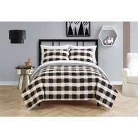 Your Zone Black and White Checkered Bed in a Bag Bedding Set
