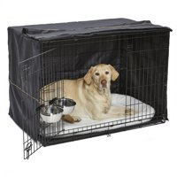 MidWest Homes for Pets Large Dog Crate Starter Kit | One 2-Door iCrate, Pet Bed, Crate Cover & 2 Pet Bowls | 42-Inch Ideal for Large Dog Breeds