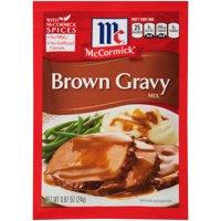 (4 Pack) McCormick Brown Gravy Mix, 0.87 oz