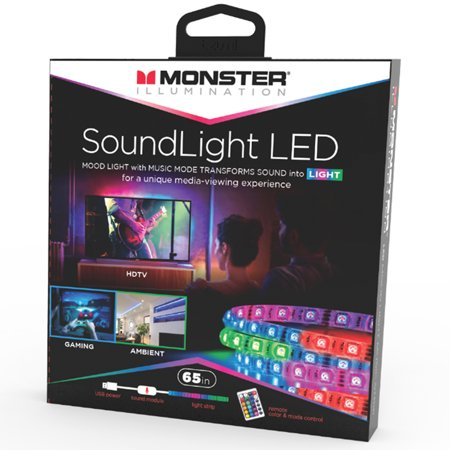 Monster Illumination Sound Activated Led Mood Light Strip 65 Ft