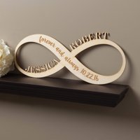 Infinity Sign Personalized Wood Plaque