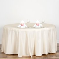 "Efavormart 120"" Round Polyester Tablecloth for Kitchen Dining Catering Wedding Birthday Party Decorations Events"