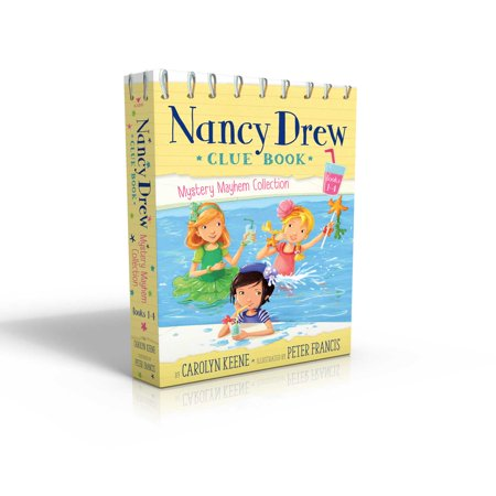 Nancy Drew Clue Book Mystery Mayhem Collection Books 1-4 : Pool Party Puzzler; Last Lemonade Standing; A Star Witness; Big Top Flop ()