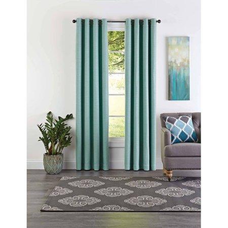 Better Homes & Gardens Basketweave Curtain Panel Blue Ridge Rustic Plaid