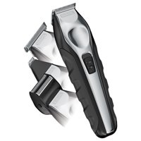 Wahl Clipper Lithium Ion MultiGroom All-in-One Beard Trimmer, Shaver, Clipper - Black/ Silver Model 9888-600