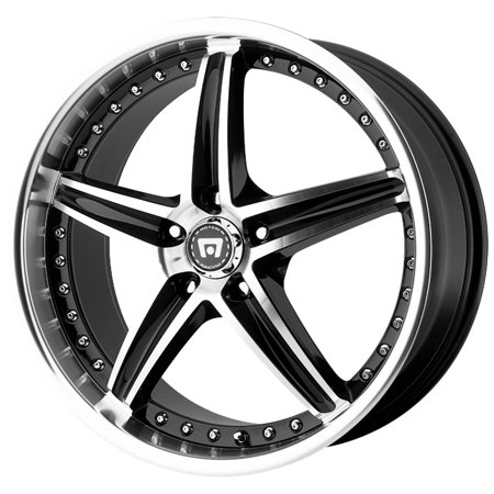 "Motegi MR107 16x7 5x4.5"" +45mm Black/Machined Wheel Rim 16"" Inch"
