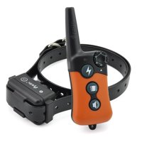 Upgraded iPets PET619S Waterproof & Rechargeable Dog Shock Collar 656 ft Remote Dog Training Collar with Beep Vibrating Electric Shock Collar for different size dogs(10-100lbs)