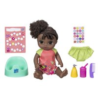 Baby Alive Potty Dance Baby: Talking Baby Doll with Black Curly Hair, for Girls and Boys 3 Years Old And Up