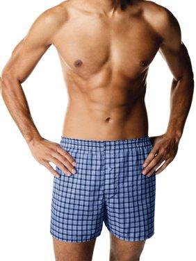 Mens ComfortBlend Woven Boxer, 4 Pack