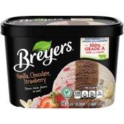 Breyers Vanilla Chocolate Strawberry Ice Cream, 48 oz