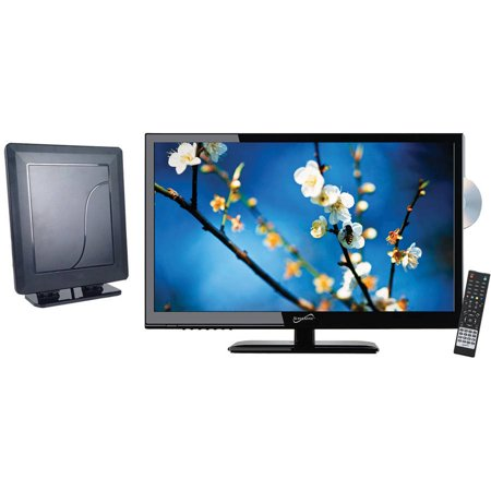"Supersonic 24"" Class - Full HD LED TV/DVD Combo - 1080p, 60Hz (SC-2412) and SC-611 HDTV Flat Digital Antenna"