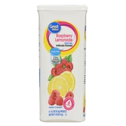 (12 Pack) Great Value Drink Mix, Raspberry Lemonade, Sugar-Free, 1.8 oz, 6 Count