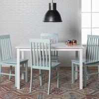 Walker Edison 5-Piece Modern White Wood Kitchen Dining Set