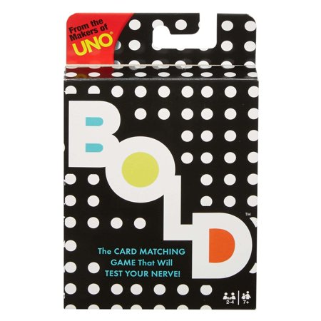 BOLD Matching Risk Card Game for 2-4 Players Ages 7Y+
