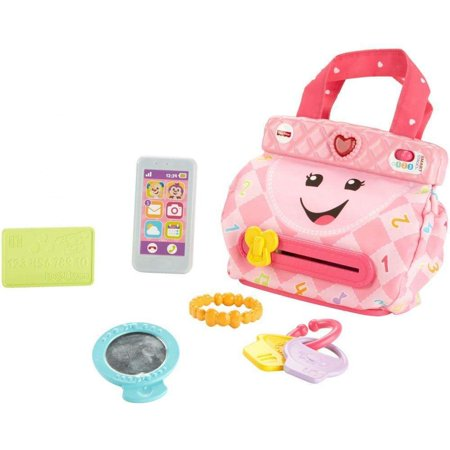 Fisher-Price Laugh & Learn My Smart Purse with 50+ Sounds & Phrases - 2 Year Old Learning Toys