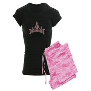 CafePress - Pink Tiara - Women's Dark Pajamas