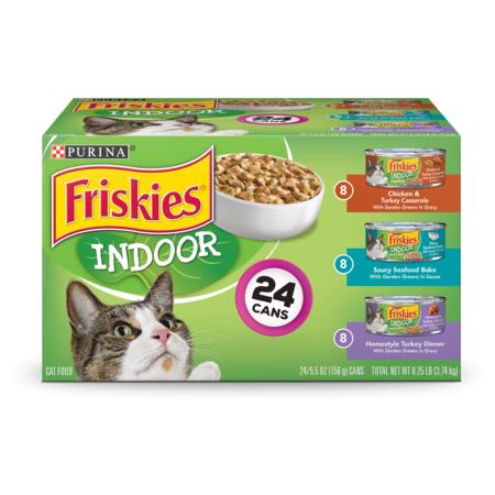 Friskies Indoor Wet Cat Food Variety Pack, Indoor - (24) 5.5 oz.