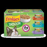 Friskies Indoor Wet Cat Food Variety Pack; Indoor - (24) 5.5 oz. Cans