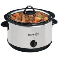 Crock-Pot 4-Quart Round Slow Cooker, Silver