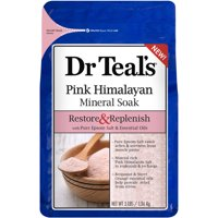 (2 pack) Dr Teal's Restore & Replenish Pink Himalayan Mineral Soak, 3 lbs