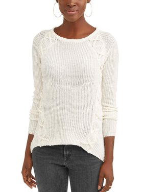 Women's Lattice Detail Sweater