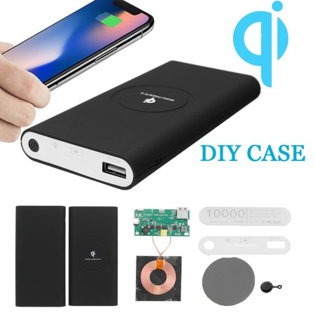 QI Power Bank Charger DIY Case Kit Wireless Charging USB Type-C for Samsung Galaxy Note 8 S9/S8/S8 Plus/S7 Edge/S7 & all chargingpad Qi-Enabled Cell Phone ()