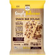 NESTLE TOLL HOUSE Simply Delicious Chocolate Chip with Toasted Oats Snack Bar Dough – Easy to Prepare and Bake Snack Bar Dough, No Artificial Colors, Flavors or Preservatives, 14 oz. Bag