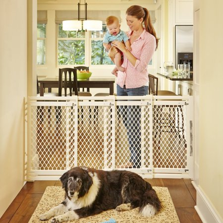North States Extra Wide Sliding Swing Door Baby Gate,
