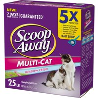Scoop Away Multi-Cat Clumping Cat Litter, Scented, 25 lbs