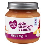 Parent's Choice Baby Food, Apple Strawberry & Banana, Stage 2, 4 oz