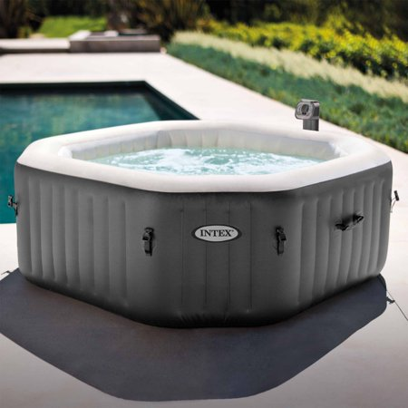 Intex 120 Bubble Jets 4-Person Octagonal Portable Inflatable Hot Tub (Hot Tub Tubs)